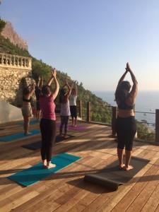 yoga sur la terrasse